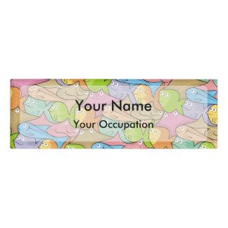 Fishes cartoon name tag