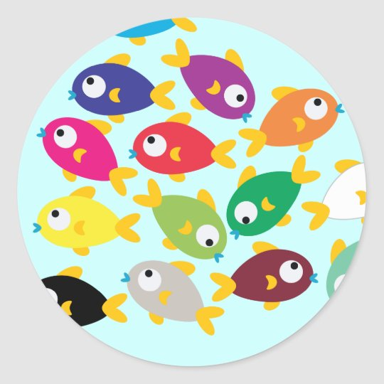 Fishes Classic Round Sticker