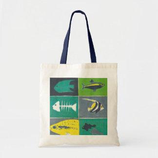Fishes illustration tote bag