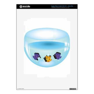 Fishes in Aquarium 2 Decal For iPad 3