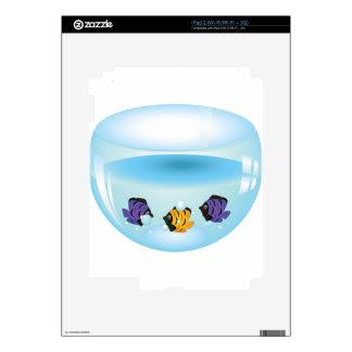 Fishes in Aquarium 2 Skin For iPad 2