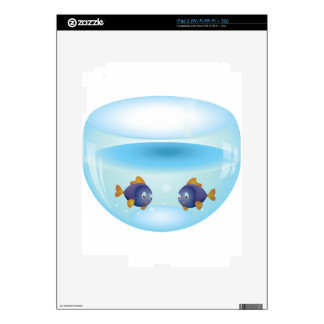 Fishes in Aquarium Decal For iPad 2