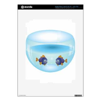 Fishes in Aquarium iPad 3 Decals