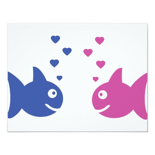 fishes in love icon card