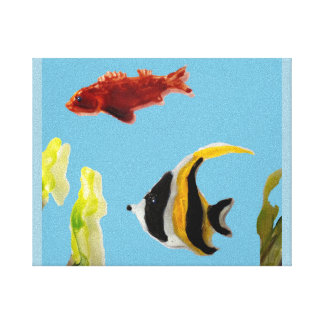Fishes in the Sea Art Canvas Print