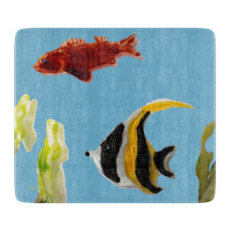 Fishes in the Sea Art Cutting Board