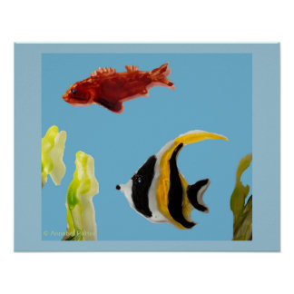 Fishes in the Sea Art Poster
