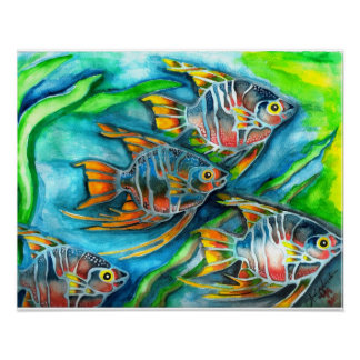 Fishes in the sea poster