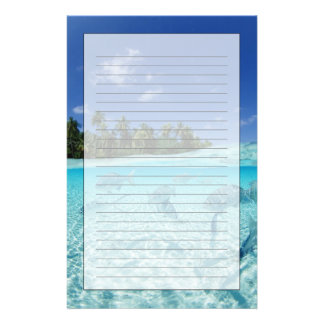 Fishes in the sea stationery