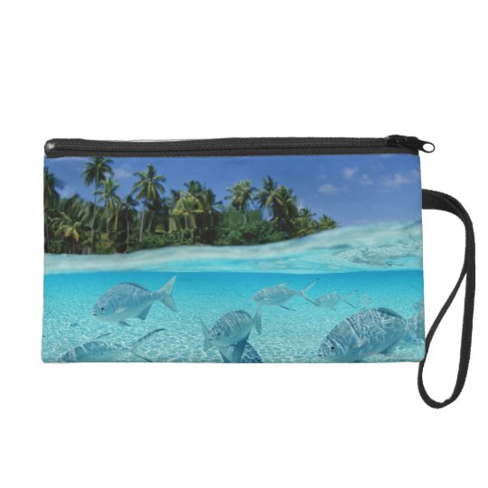 Fishes in the sea wristlet purse