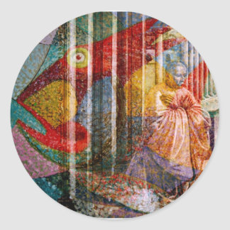 FISHES ~ LOAVES ~ AND FAITH FACTOR CLASSIC ROUND STICKER