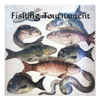 FISHES,OCEAN SEA LIFE FISHING TOURNAMENT PARTY CARD