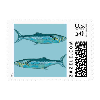 Fishes on Blue Postage