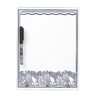 Fishes Swimming Under the Waves Dry Erase Board