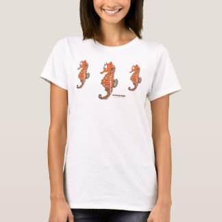 Fishfry designs 3 seahorse T-shirt