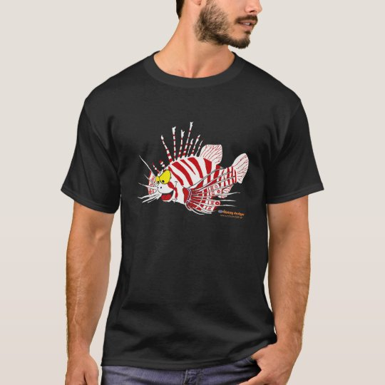 Fishfry Designs Lionfish Uni-sex Front logo Tshirt