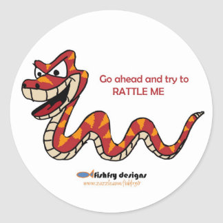 Fishfry diseña a los pegatinas de la serpiente de pegatina redonda