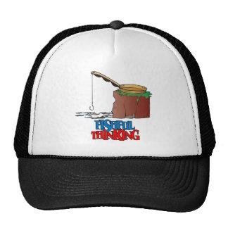 Fishful Thinking Funny Fishing Trucker Hat