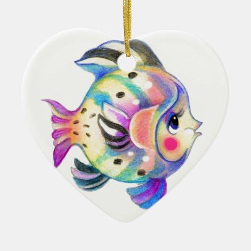 Fishie tropical lindo Kawaii Ornamente De Reyes