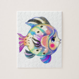 Fishie tropical lindo Kawaii Rompecabeza Con Fotos