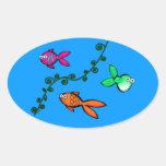 Fishies de Charlie Calcomanías De Óvales