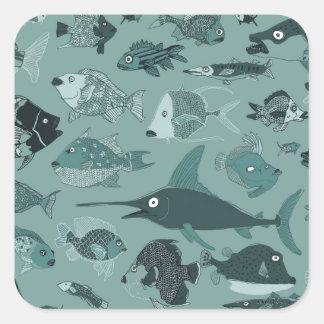 Fishies Square Sticker