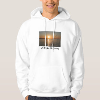 Fishiing Pole in the Sunset Image Hoodie