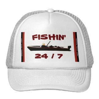 """Fishin' 24/7"" Ball Cap Trucker Hat"