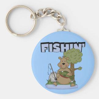 Fishin' Bear Tshirts and Gifts Key Chains