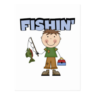 Fishin' Boy Tshirts and Gifts Postcard