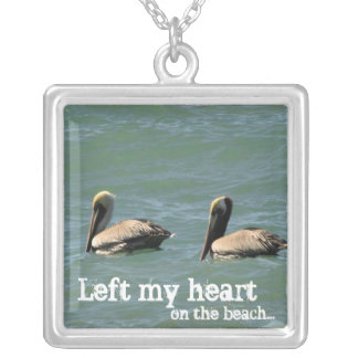 Fishin Buddies; Mexico Souvenir Silver Plated Necklace