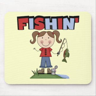 Fishin' Girl T-shirts and Gifts Mouse Pads