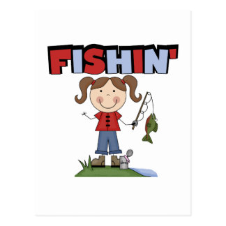 Fishin' Girl T-shirts and Gifts Postcard