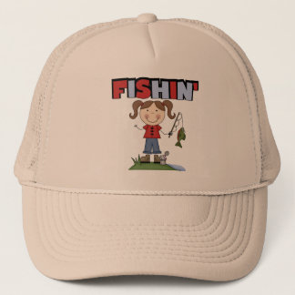 Fishin' Girl T-shirts and Gifts Trucker Hat
