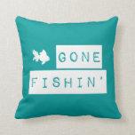 Fishin ido (colores de encargo) cojines