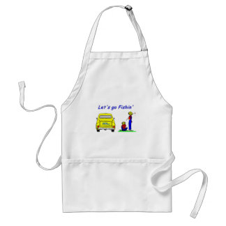 Fishin Pickup Fisherboys Adult Apron