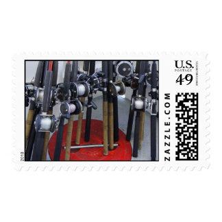 Fishin' Postage Stamp