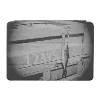 Fishing 12345 once I caught a fish black and white iPad Mini Cover