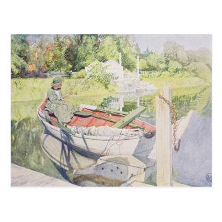 Fishing, 1909 postcard