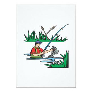 Fishing 2 5x7 paper invitation card