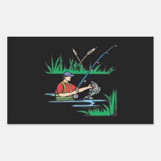 Fishing 2 rectangular sticker