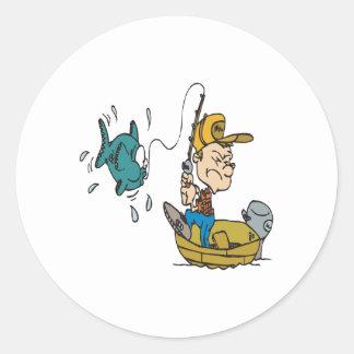 Fishing 4 classic round sticker