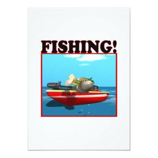 Fishing 5x7 Paper Invitation Card