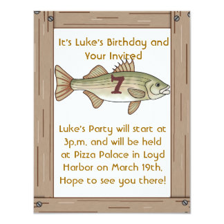Fishing 6th Birthday Party Boys Invitation