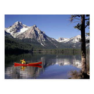 Fishing A Crystal Clear Mountain Lake Postcard