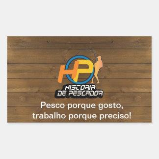 Fishing adhesive with Personalizável Sentence Rectangular Sticker