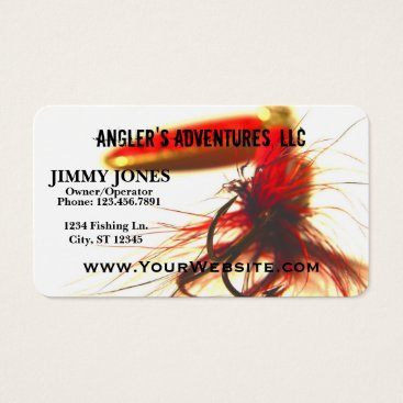 Professional Business Fishing Adventures Lure Business Card