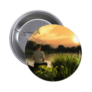 Fishing Alone Buttons