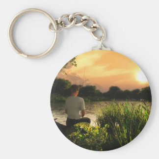 Fishing Alone Keychain