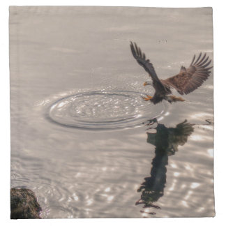 Fishing American Bald Eagle Wildlife Photo Napkin